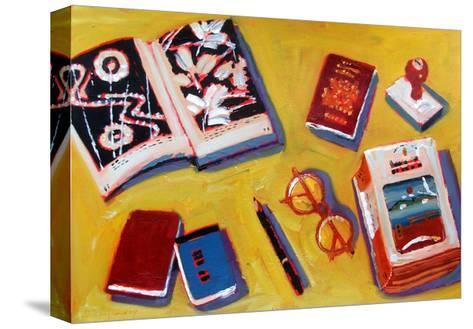 Glasses and Pencil-Sara Hayward-Stretched Canvas Print
