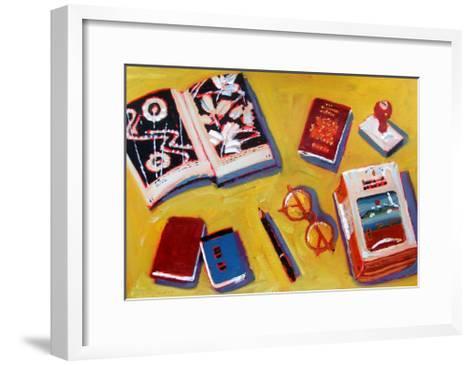 Glasses and Pencil-Sara Hayward-Framed Art Print