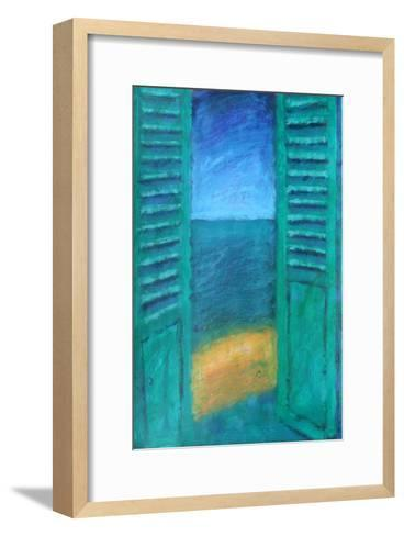 Green Shutters-Sara Hayward-Framed Art Print