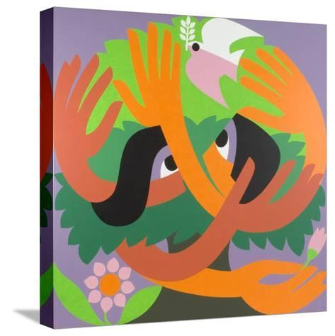 Bird Watchers, 1973-Ron Waddams-Stretched Canvas Print