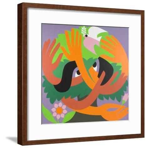 Bird Watchers, 1973-Ron Waddams-Framed Art Print