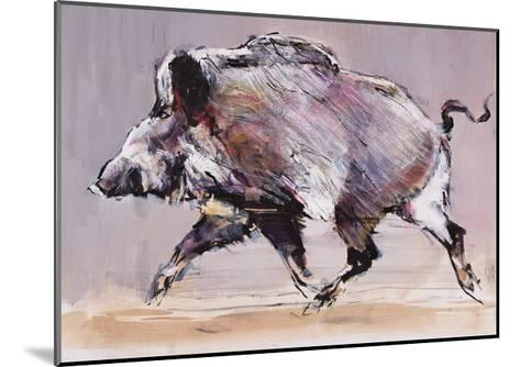 Running Boar, 1999-Mark Adlington-Mounted Giclee Print