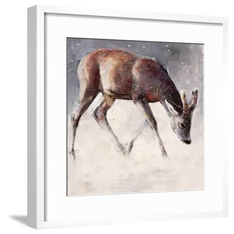Roe Buck, Winter, 2000-Mark Adlington-Framed Art Print