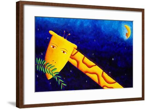 Giraffe at Night, 2002-Julie Nicholls-Framed Art Print