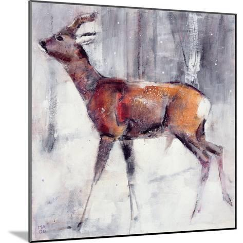 Buck in the Snow, 2000-Mark Adlington-Mounted Giclee Print
