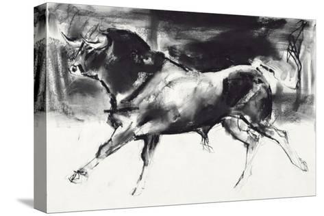 Black Bull-Mark Adlington-Stretched Canvas Print