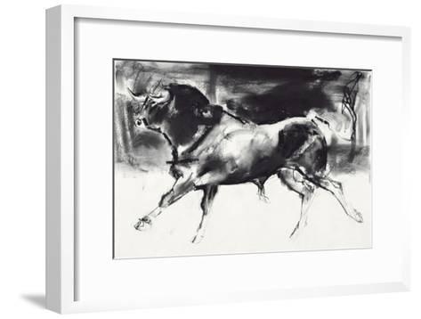 Black Bull-Mark Adlington-Framed Art Print