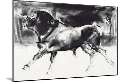 Black Bull-Mark Adlington-Mounted Giclee Print