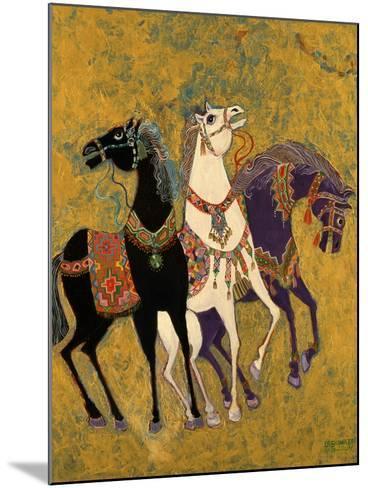 3 Horses, 1975-Laila Shawa-Mounted Giclee Print