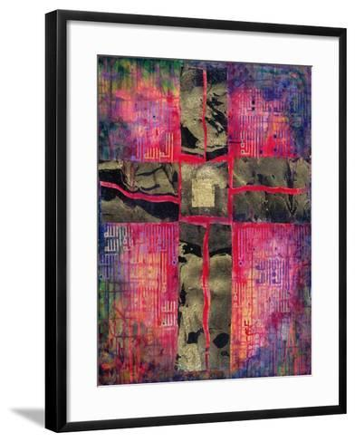 Divided Cross, 2000-Laila Shawa-Framed Art Print
