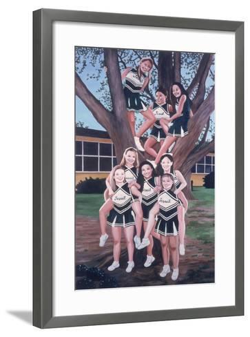 Jesuit Cheerleaders in a Tree, 2002-Joe Heaps Nelson-Framed Art Print