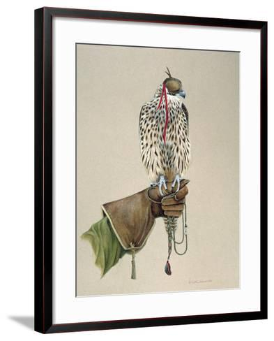 Saker on a Falconer's Wrist, 1981-Mary Clare Critchley-Salmonson-Framed Art Print