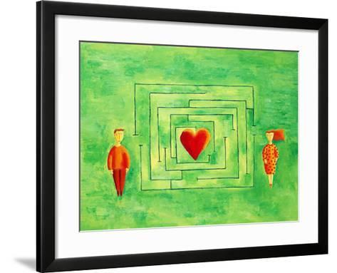 Love Maze, 2004-Julie Nicholls-Framed Art Print