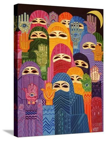 The Hands of Fatima, 1989-Laila Shawa-Stretched Canvas Print