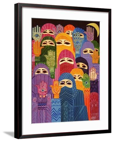 The Hands of Fatima, 1989-Laila Shawa-Framed Art Print