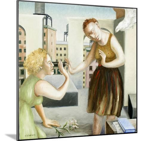 Rooftop Annunciation, 1 (Two Women) 2006-Caroline Jennings-Mounted Giclee Print