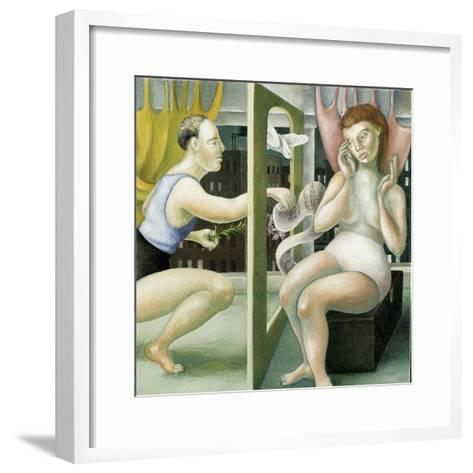 Annunciation with Leaping Figure, 2005-Caroline Jennings-Framed Art Print