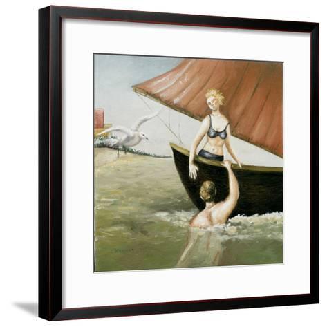 Sea Annunciation, 2-Caroline Jennings-Framed Art Print