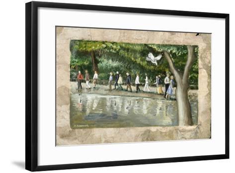 Processional Annunciation, 2006-Caroline Jennings-Framed Art Print