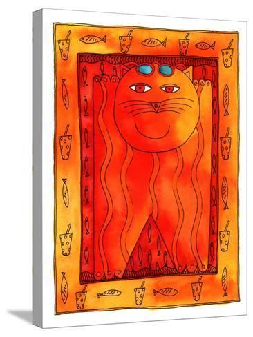 Sunbathing Cat, 1999-Julie Nicholls-Stretched Canvas Print