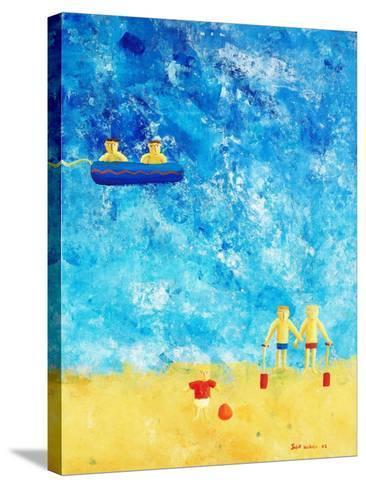 The Beach, 2002-Julie Nicholls-Stretched Canvas Print