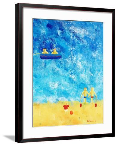 The Beach, 2002-Julie Nicholls-Framed Art Print