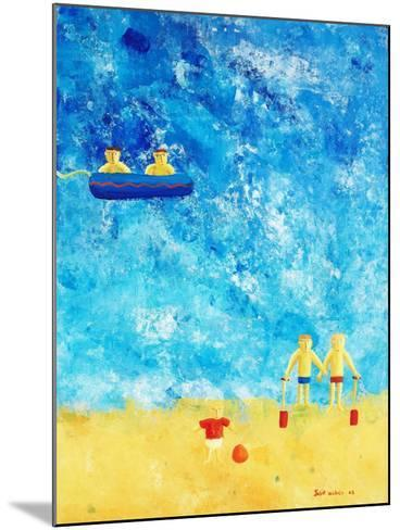 The Beach, 2002-Julie Nicholls-Mounted Giclee Print