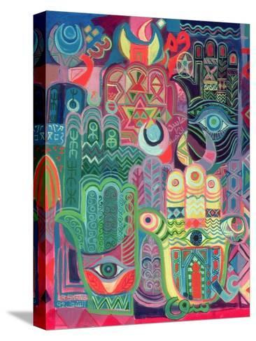 Hands as Amulets II, 1992-Laila Shawa-Stretched Canvas Print