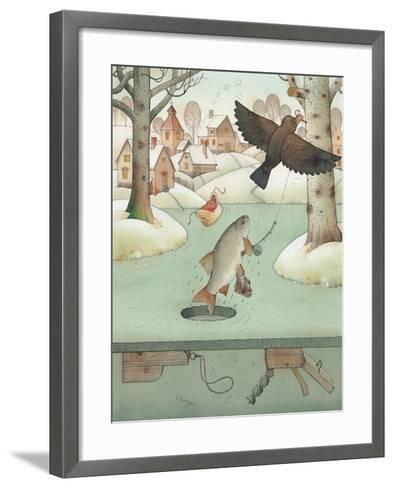 Fishing, 2003-Kestutis Kasparavicius-Framed Art Print
