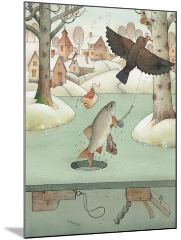 Fishing, 2003-Kestutis Kasparavicius-Mounted Giclee Print