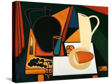 Still Life with Purple Mug, C.1960-Emil Parrag-Stretched Canvas Print