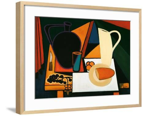 Still Life with Purple Mug, C.1960-Emil Parrag-Framed Art Print