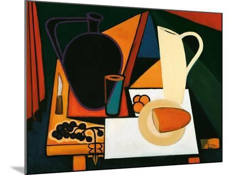 Still Life with Purple Mug, C.1960-Emil Parrag-Mounted Giclee Print
