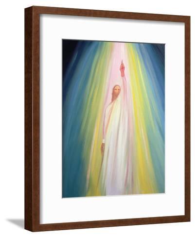 Jesus Christ Points Us to God the Father, 1995-Elizabeth Wang-Framed Art Print
