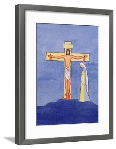 Mary Stands by the Cross as Jesus Offers His Life in Sacrifice, 2005-Elizabeth Wang-Framed Art Print