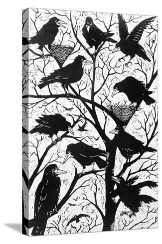 Rooks, 1998-Nat Morley-Stretched Canvas Print