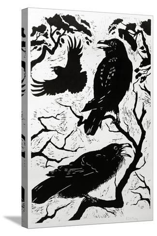 Ravens, 1998-Nat Morley-Stretched Canvas Print