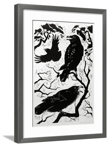 Ravens, 1998-Nat Morley-Framed Art Print