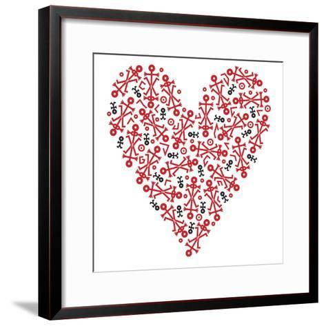 Heart Icon, 2006- Thisisnotme-Framed Art Print