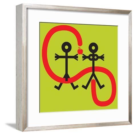 Temptation Icon, 2005- Thisisnotme-Framed Art Print