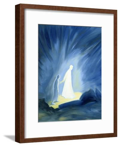 Even in the Darkness of Out Sufferings Jesus Is Close to Us, 1994-Elizabeth Wang-Framed Art Print