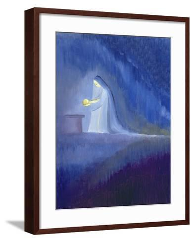 The Virgin Mary Cared for Her Child Jesus with Simplicity and Joy, 1997-Elizabeth Wang-Framed Art Print