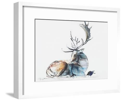 Buck and Bird, 2006-Mark Adlington-Framed Art Print