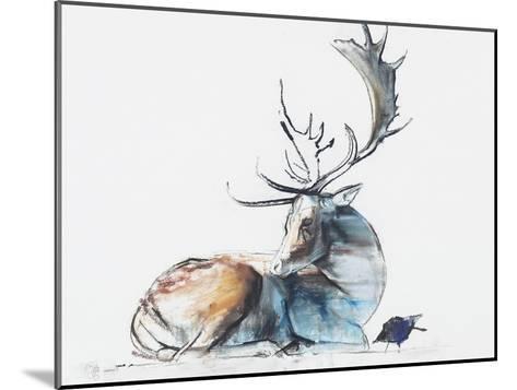 Buck and Bird, 2006-Mark Adlington-Mounted Giclee Print