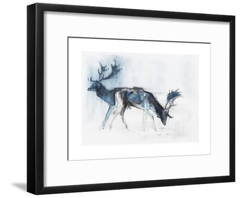 Fallow Bucks, Richmond, 2006-Mark Adlington-Framed Art Print
