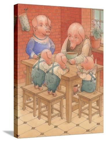Pigs, 2005-Kestutis Kasparavicius-Stretched Canvas Print