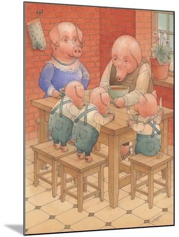 Pigs, 2005-Kestutis Kasparavicius-Mounted Giclee Print