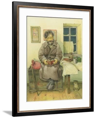 Russian Scene 05, 1994-Kestutis Kasparavicius-Framed Art Print