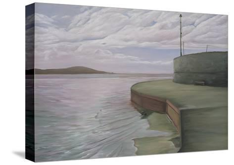 Sea Wall at Weston Looking Towards Breen Down, 2006-Peter Breeden-Stretched Canvas Print