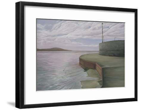 Sea Wall at Weston Looking Towards Breen Down, 2006-Peter Breeden-Framed Art Print